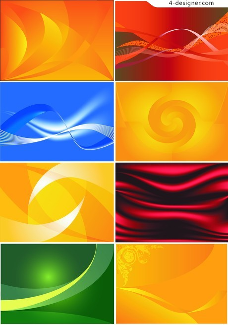 Wavy background vector material