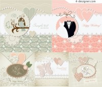 Wedding label background vector material