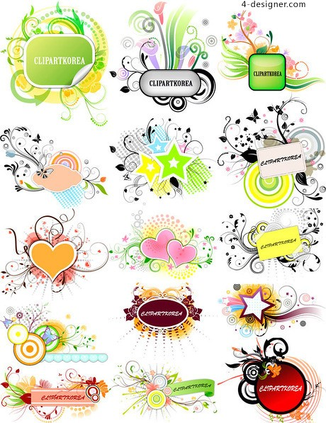15 of the beautifully decorated box vector material