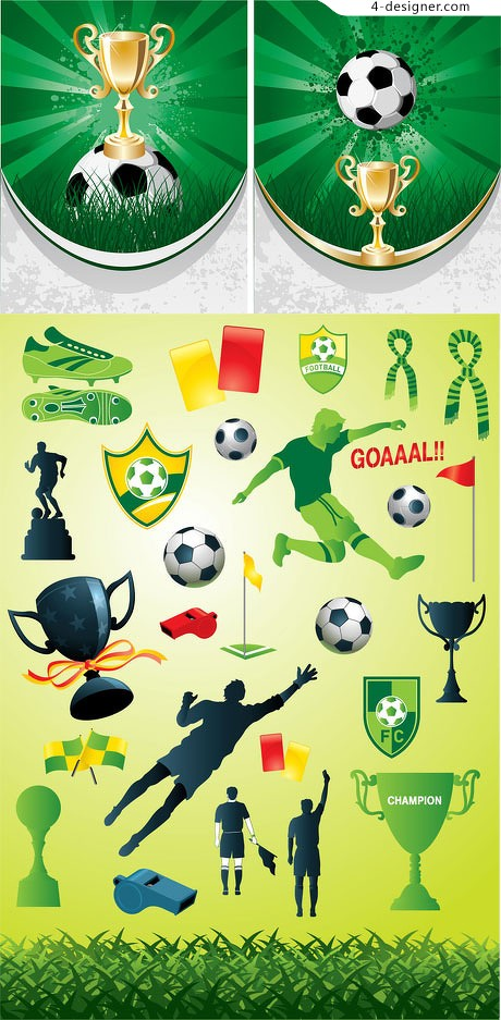2010 World Cup theme vector material