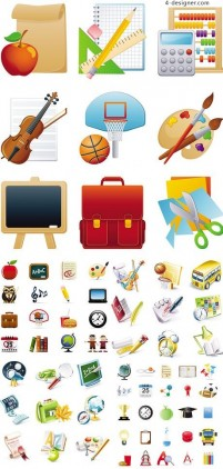 3D cartoon icon in school activities vector material