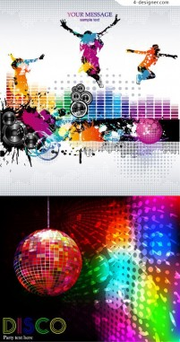 5 fashion trend music theme vector material