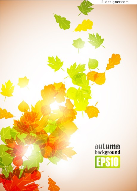 Autumn leaves vector material