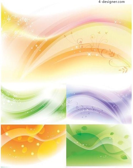 Beautiful abstract background vector material