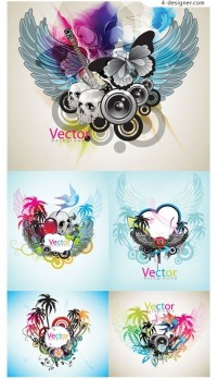 Beautifully dynamic trend pattern vector material