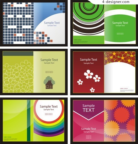 Book cover background vector material