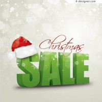 Christmas background 3D characters vector material