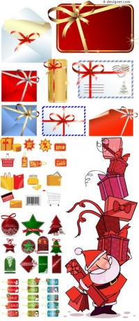 Christmas sales element vector material