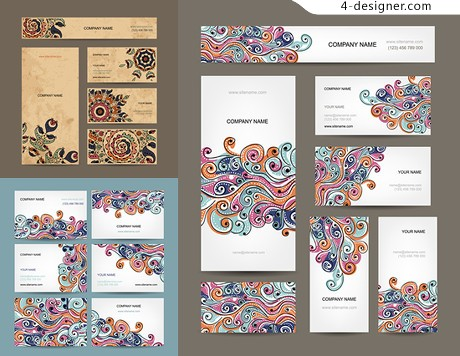 Classical pattern card design vector material