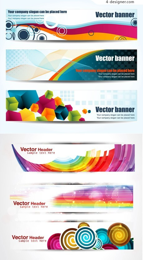 Colorful banners vector geometry background