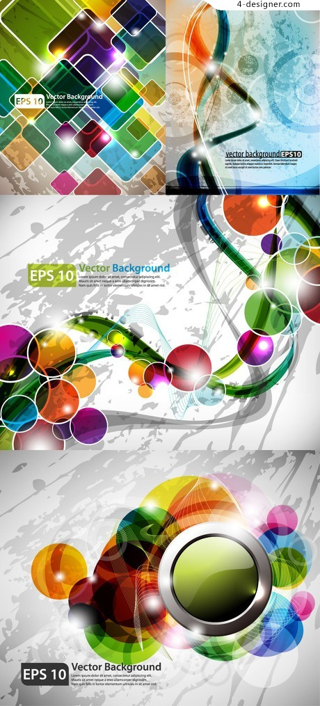 Colorful geometric background vector material