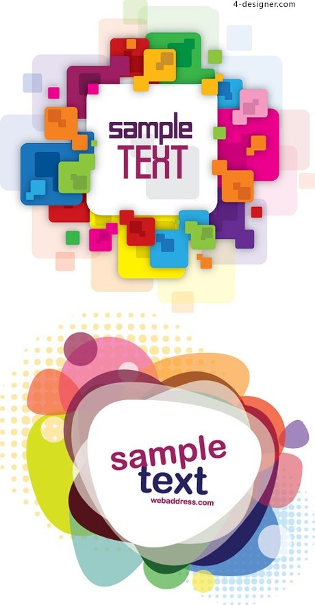 Colorful message box vector material