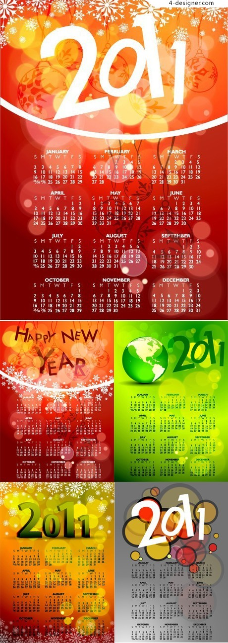 Dream Star 2011 calendar vector material