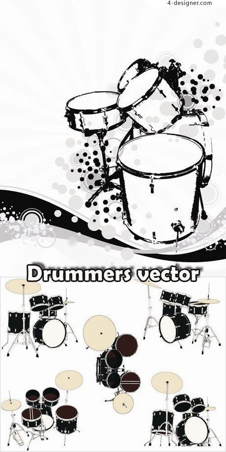 Drums vector material