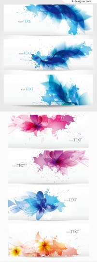 Floral Symphony banners vector template