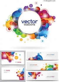 Gorgeous color card background vector material