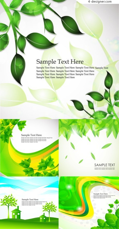 Green Spring element vector material