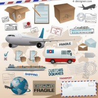 Logistics related element vector material