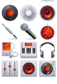 Music theme element vector material