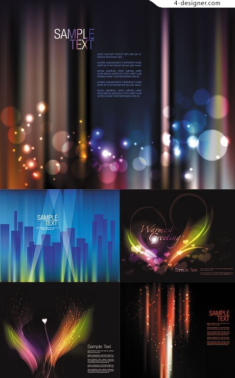 Night glow brilliant dynamic background vector material