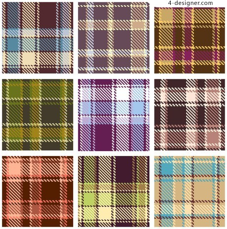 Plaid pattern vector material