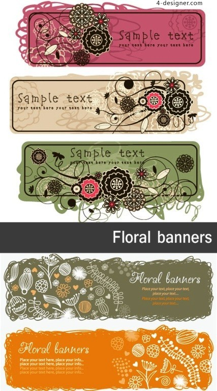 Plant Variety color theme banners vector material
