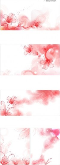 Smoke curl floral background line drawing vector material