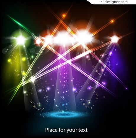 Stage lighting effects vector material