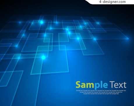 Technology Square background vector material