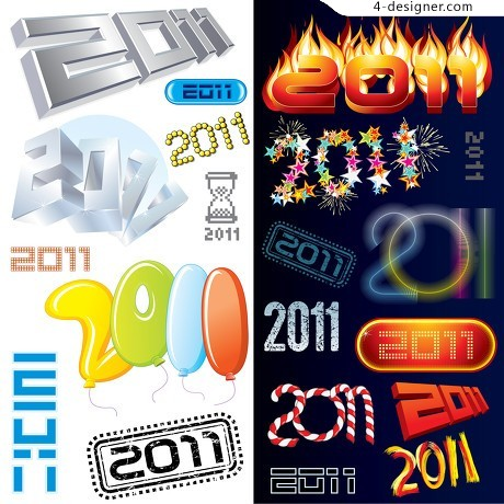 Variety 2011 font vector material