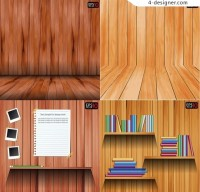 Wooden wall Vector material