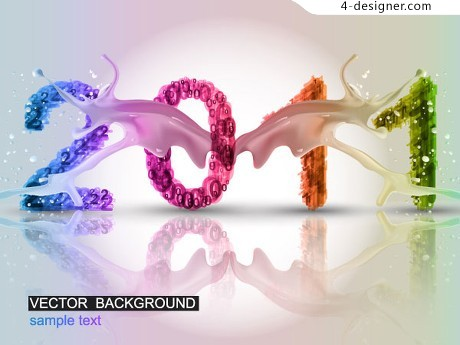 2011 New Year vector material