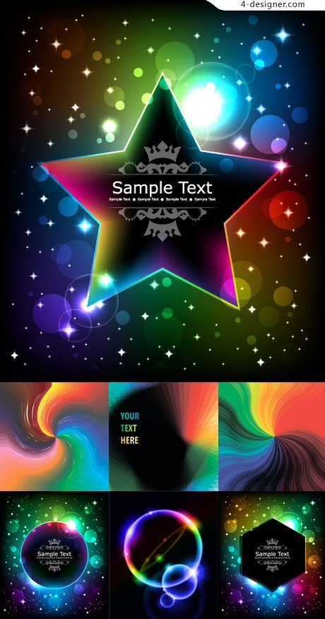 Brilliant starlight effects background vector material