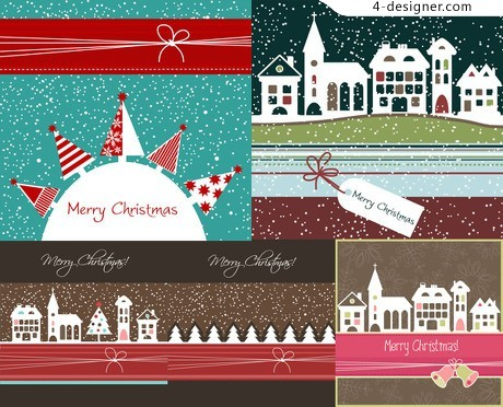 Cartoon Christmas background vector material