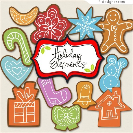 Cartoon winter element vector material
