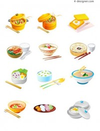 Chinese food vector illustration material