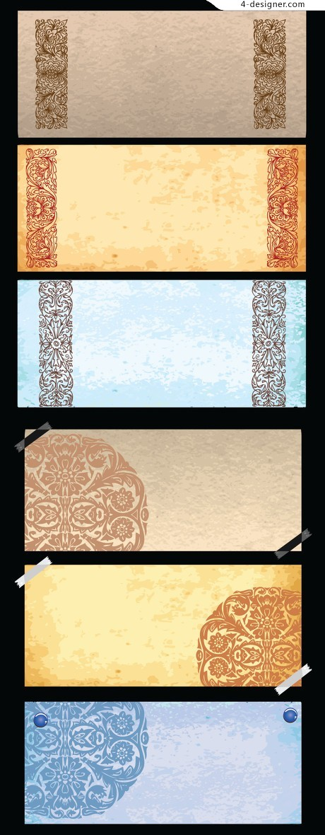 Classical pattern background vector material
