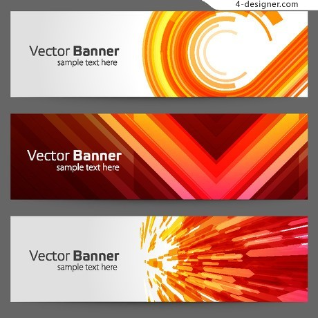 Colorful banner BANNER trend pattern vector material