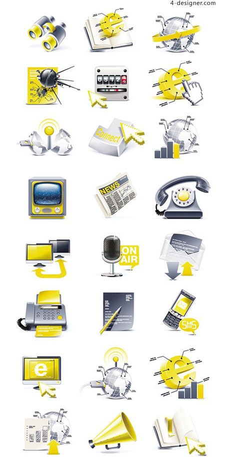 Common living icon vector material