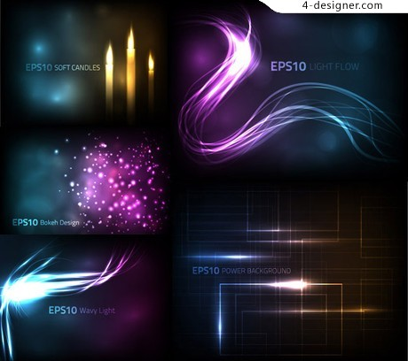 Cool light vector material