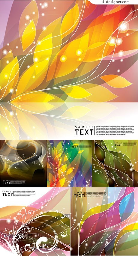 Dream curve pattern background vector material