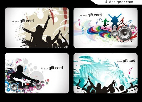 Dynamic music theme vector material