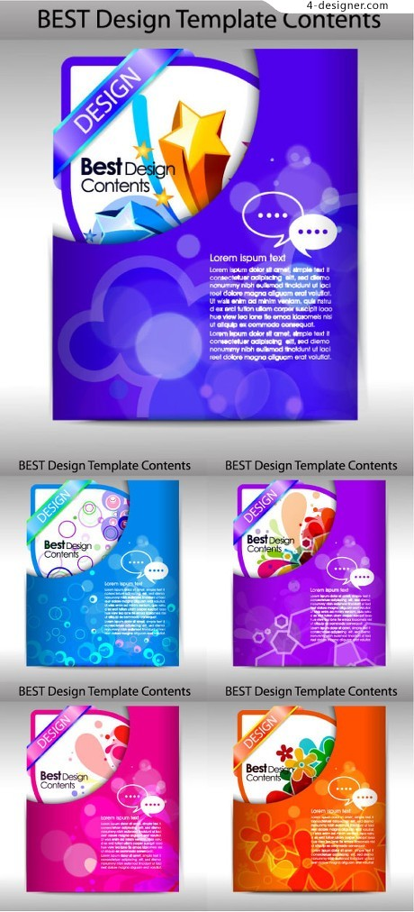 Exquisite packaging design vector material