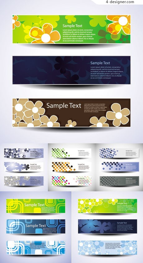 Fashion banner card background vector material