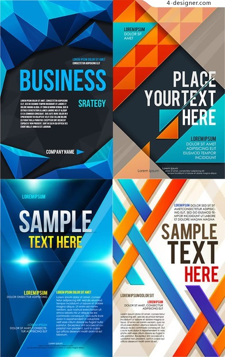 Fashionable Business posters vector material