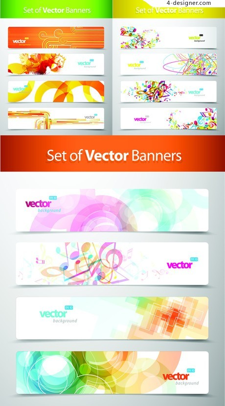 Gorgeous pattern trend banner BANNER vector material