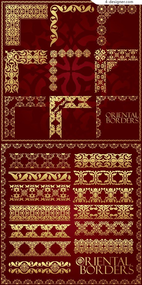 Gorgeous traditional pattern vector material