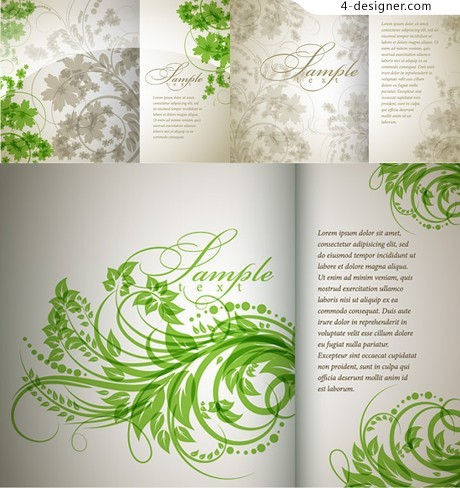 Green shading background vector material