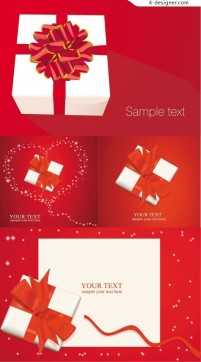 Holiday gift vector material