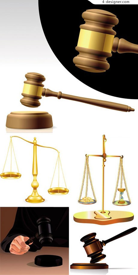 Justice theme vector material